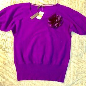 *Moving Sale!* Violet Knit Blouse Sz S